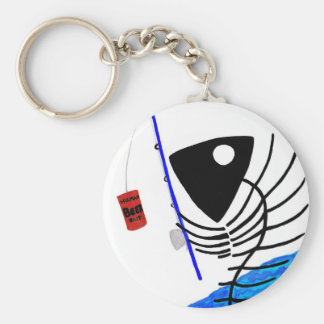 BAIT AND HOOK KEYCHAIN