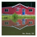 Bait and Tackle Shop with Geese Print