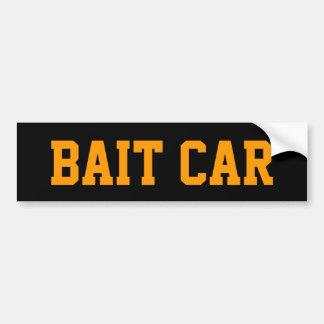 BAIT CAR BUMPER STICKER - BLACK AND ORANGE