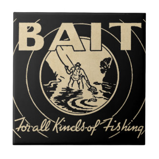 ❝Bait for All Kinds of Fishing❞ Ceramic Tile