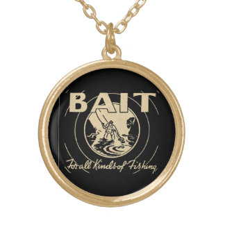 ❝Bait for All Kinds of Fishing❞ Gold Plated Necklace