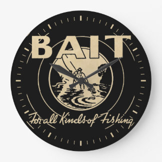 BAIT For All Kinds of Fishing Large Clock