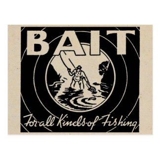 ❝BAIT for all kinds of fishing❞ Postcard