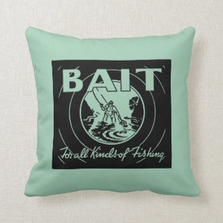 Bait for All Kinds of Fishing Throw Pillow