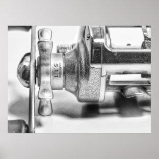 Baitcaster Fishing Reel Print