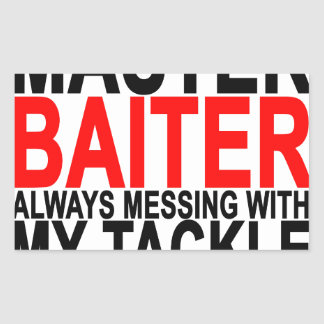 Baiter principal - Fishing.png divertido Pegatina Rectangular
