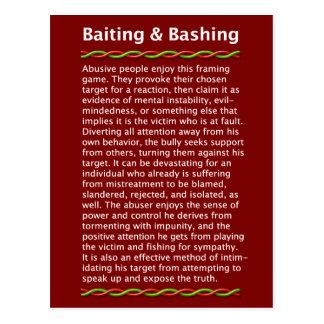 Baiting & Bashing Postcard
