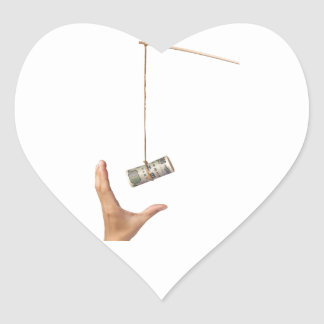 Baiting with Japanese money Heart Sticker