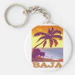 Baja Basic Round Button Keychain