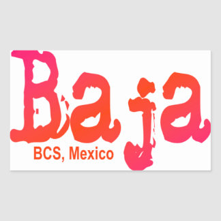 Baja, BCS, México Pegatina Rectangular