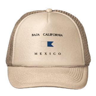 Baja California Mexico Alpha Dive Flag Trucker Hat