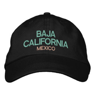 Baja California Mexico Embroidered Hat