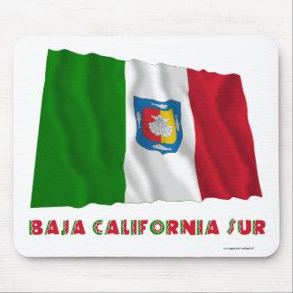 Baja California Sur que agita la bandera oficiosa Tapete De Ratón