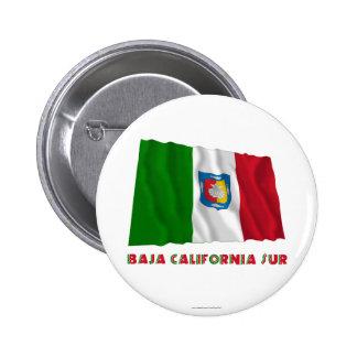 Baja California Sur Waving Unofficial Flag Pinback Buttons