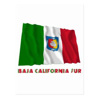Baja California Sur Waving Unofficial Flag Postcard