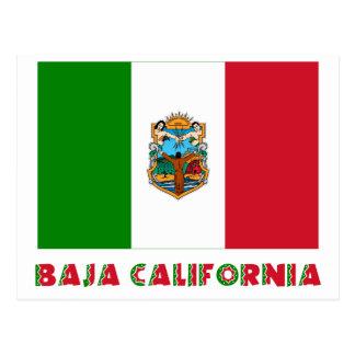 Baja California Unofficial Flag Postcard