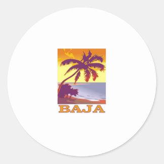 Baja Classic Round Sticker