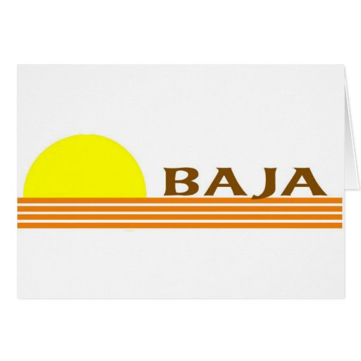 Baja Greeting Card