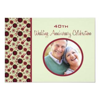 Baja - invitación del aniversario de boda de la
