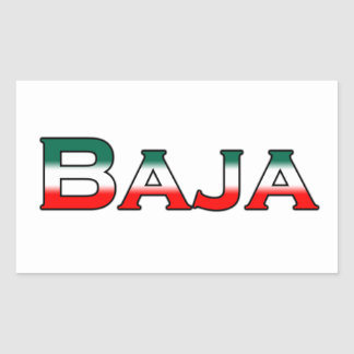 Baja Mexico (text logo) Rectangular Sticker