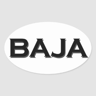 Baja Oval Logo Oval Sticker
