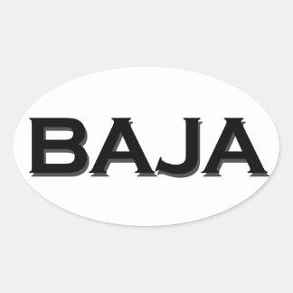 Baja Oval Logo Oval Sticker
