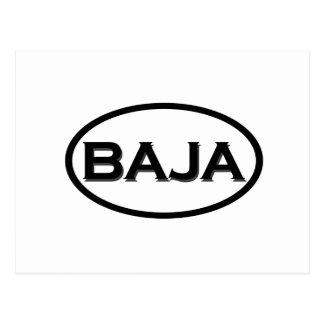 Baja Oval Logo Postcard