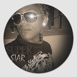 Baja Panti Ent DJ Sero Classic Round Sticker