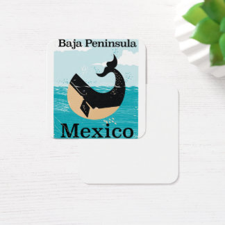 baja peninsula Mexico travel poster Square Business Card