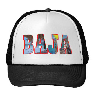 Baja postcard trucker hat