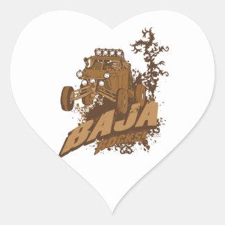 Baja Rocks! Heart Sticker
