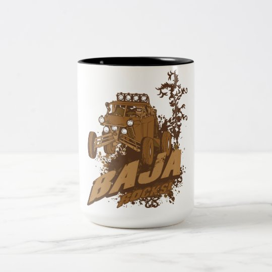 Baja Rocks! Two-Tone Coffee Mug