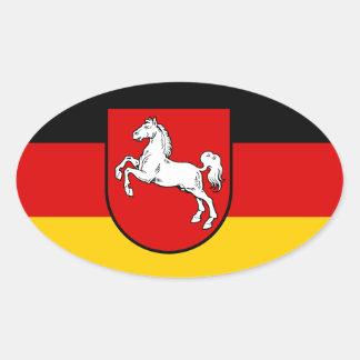 Baja Sajonia (Alemania) Pegatina Ovalada