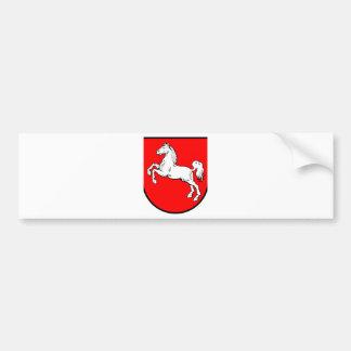 Baja Sajonia escudo de armas Pegatina Para Auto