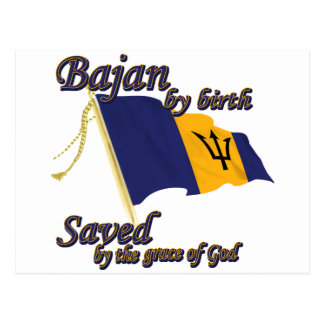 Bajan by birth saved by the grace of God Postcard