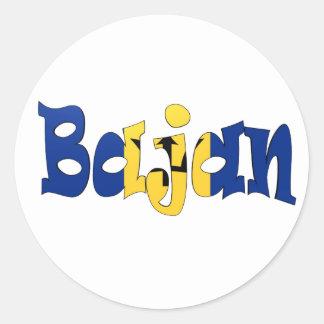 Bajan Classic Round Sticker