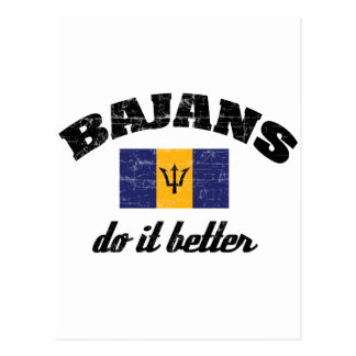 Bajan do it better postcard