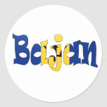 Bajan Round Sticker