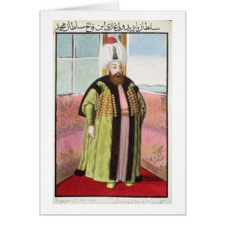 Bajazet (Bayezid) II (c.1447-1512) called 'Adli', Card