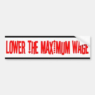 Baje a la pegatina para el parachoques del salario etiqueta de parachoque