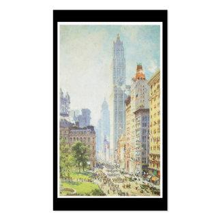 Baje Broadway en tiempo de guerra circa 1917 Plantillas De Tarjetas De Visita