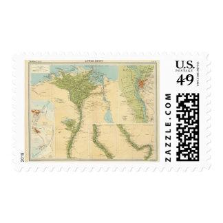 Baje Egipto Sello Postal