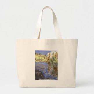 Baje el bolso gemelo de los lagos bolsa tela grande