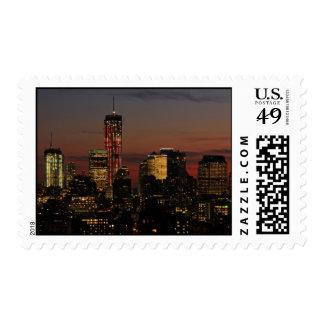 Baje el horizonte de NYC: World Trade Center en Sellos