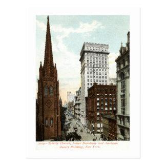 Baje el vintage 1897 de Broadway NY Tarjeta Postal