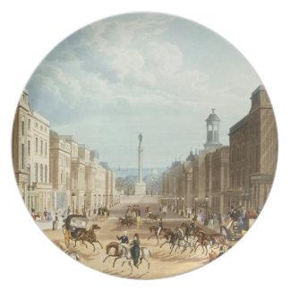 Baje la calle regente, pub. por Ackermann, c.1835  Platos Para Fiestas