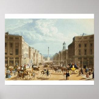 Baje la calle regente, pub. por Ackermann, c.1835  Póster