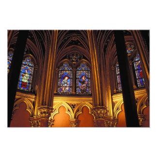 Baje la capilla del La Sainte-Chapelle, París, 2 Fotografias