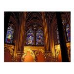 Baje la capilla del La Sainte-Chapelle, París, 2 Postal