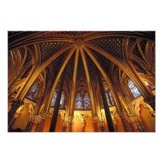 Baje la capilla del La Sainte-Chapelle, París, Impresión Fotográfica